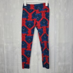 Lularoe Leggings Red Bear print